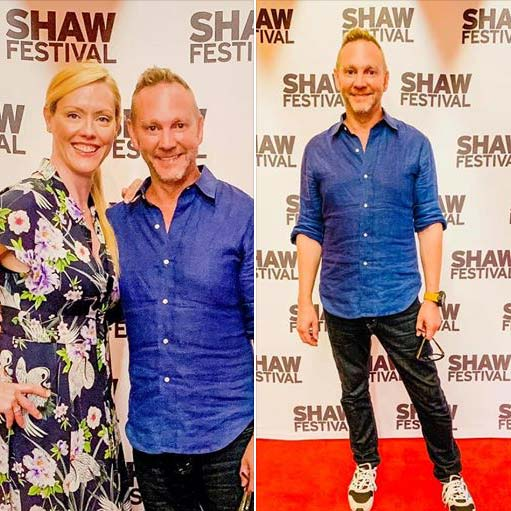 Colin McMurray and Shoana Jensen on the red carpet at the Shaw Festival opening