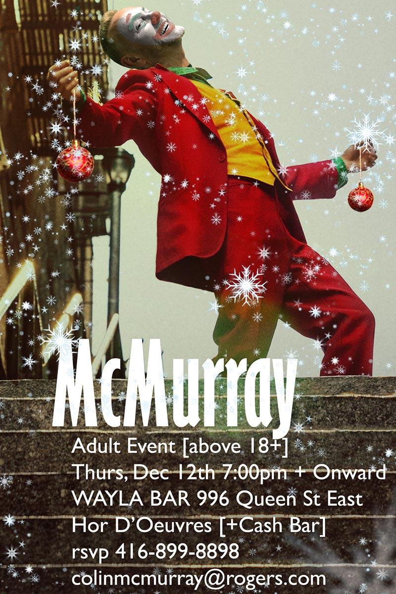 Colin McMurray holiday party 2019 invitation